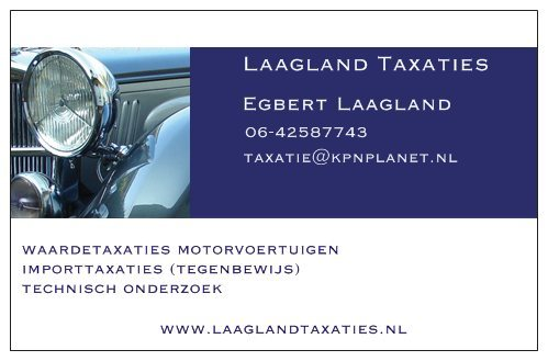 Egbert Laagland taxaties